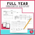 Kindergarten Full Year Assessment Kit Based on Common Core