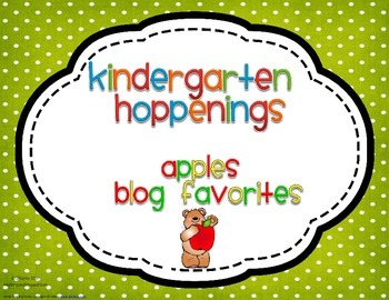Kindergarten Hoppenings {Apples Blog Favorites}