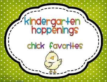Kindergarten Hoppenings {Chicks Blog Favorites}