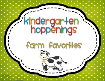 Kindergarten Hoppenings {Farm Blog Favorites}