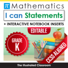 "Kindergarten Common Core Standards ""I Can Statements"" Post"