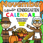 Kindergarten Interactive Calendar (NOVEMBER) - for Prometh