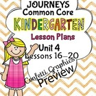 Kindergarten K Lesson Plans Journeys Common Core Unit 4 Le