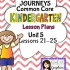 Kindergarten K Lesson Plans Journeys Common Core Unit 5 Le