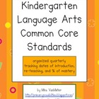 Kindergarten L.A. Common Core Standards Data (for the teacher)