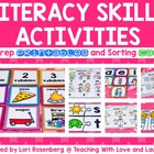 Kindergarten Literacy Skills Activities