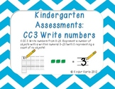 Kindergarten Math Assessments: CC3 Write Numbers