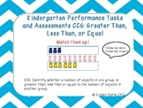Kindergarten Math Assessments: CC6 Greater Than, Less Than