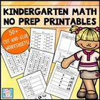 Kindergarten Math Common Core Cut-and-Glue Workbook