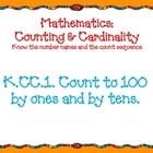 Kindergarten Math Common Core Standards with Orange background
