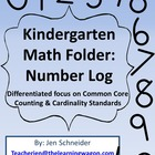 Kindergarten Math Folder: Number Log 0 - 20