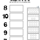 Kindergarten Math - Numbers 0-10 - Groups of 6 to 10