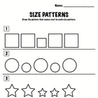 Kindergarten Math - Patterns - Size Patterns