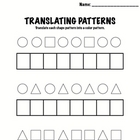 Kindergarten Math - Patterns - Translating Patterns