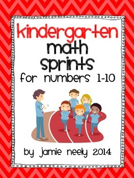 Kindergarten Math Sprints for Numbers 1-10