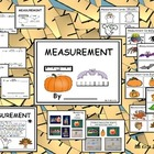 Kindergarten Measurement with Fall, Bats, Turkeys, Pumpkin