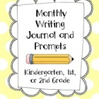 Kindergarten, First, and Second Grade Monthly Writing Journals