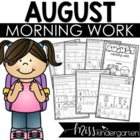 Kindergarten Morning Work {August}
