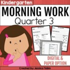 Kindergarten Morning Work for Common Core Set #3 (Quarter 3)