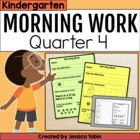 Kindergarten Morning Work for Common Core Set #4 (Quarter 4)