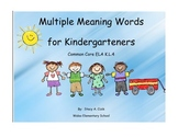 Kindergarten Multiple Meanings- Common Core Activity