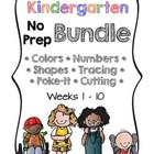 Kindergarten NO PREP Basics BUNDLE {Units 1 - 10}