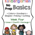 Kindergarten NO PREP Basics {Week 4}