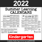 Kindergarten NO PREP Summer Activity Calendars for 2014 {C