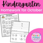 Kindergarten October Homework