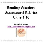 Kindergarten Reading Wonders Assessment Rubrics 1-10