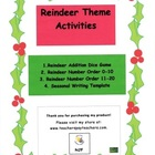 Kindergarten Reindeer Theme Activities