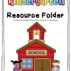 Kindergarten Resource Folder