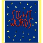 Kindergarten Sight Word Cards