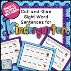 Kindergarten Sight Word Cut-and-Glue Sentences-36 sentences