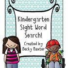 Kindergarten Sight Word Search