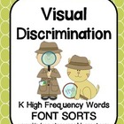 Kindergarten Sight Words: Font Sorts for 30+ Words!