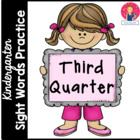 Kindergarten Sight Words Practice - 3rd Quarter