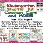 Kindergarten Starter Kit: Common Core and MORE!!