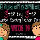 Kindergarten Step by Step Guided Reading Plans: Week 19