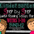 Kindergarten Step by Step Guided Reading Plans: Weeks 1-20