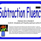 Kindergarten Subtraction Fluency