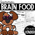 Kindergarten Summer Brain Food