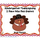 Kindergarten Thanksgiving I Have Who Has Games (4)