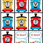 Kindergarten Train Theme Math and Literacy Activities