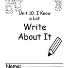 Kindergarten Treasures Unit 10 Write About it Journals