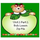Kindergarten Unit 1 EM Bulk SMARTboard Lessons Part 1 (1.1-1.8)