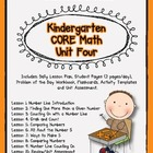 Kindergarten Unit 4 CORE Math
