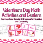 Kindergarten Valentine's Day Math Activities and Centers C