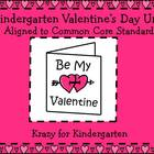 Kindergarten Valentine's Day Unit