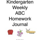 Kindergarten Weekly Alphabet Homework Journal